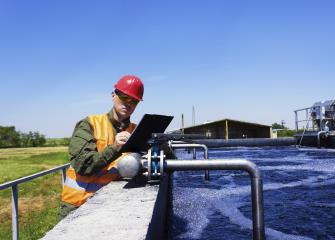 water and wastewater treatment plant and system operators image